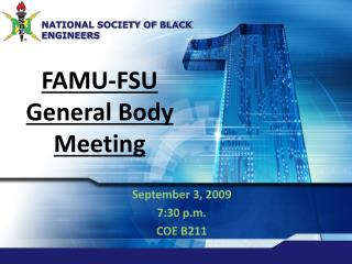 FAMU-FSU General Body Meeting