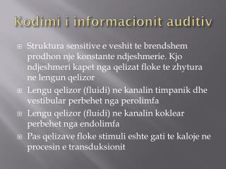 Kodimi i informacionit auditiv