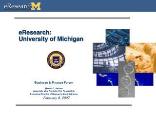 EResearch:  University of Michigan