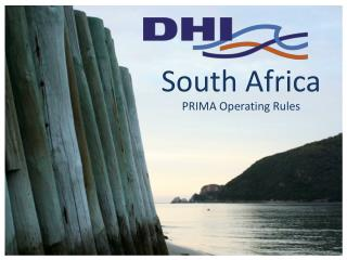 South Africa  PRIMA Operating Rules