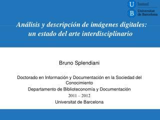 Análisis y descripción de imágenes digitales: un estado del arte interdisciplinario