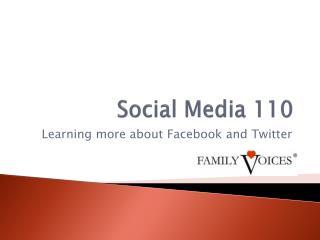 Social Media 110