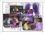 Lung cancer types and presentation