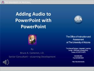 Adding Audio to PowerPoint with PowerPoint
