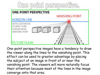 One point perspective.