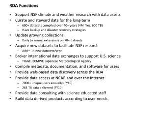 RDA Functions