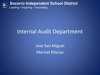 Internal Audit Department