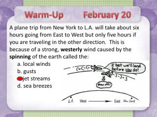 Warm-Up         February 20