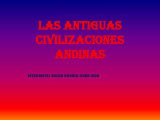 Las antiguas civilizaciones andinas