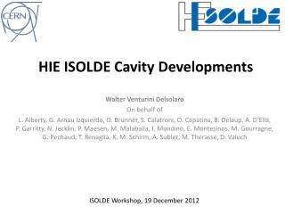 HIE ISOLDE Cavity  Developments