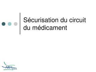 S curisation du circuit du m dicament
