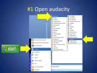 #1  Open audacity