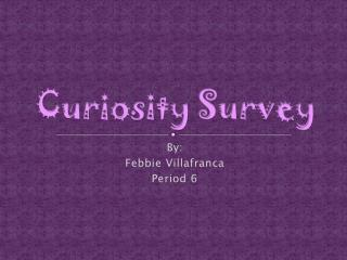 Curiosity Survey
