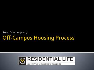 Off-Campus Housing Process