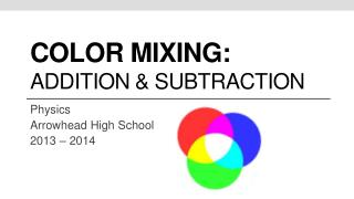 Color mixing: addition & Subtraction