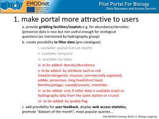 1. make portal  more attractive to users