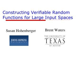 Constructing Verifiable Random Functions for Large Input Spaces