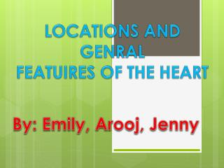 LOCATIONS AND GENRAL  FEATUIRES OF THE HEART