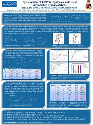 Cyclic  Aminal  of  TsDPEN : Synthesis and Use as Asymmetric  Organocatalysts