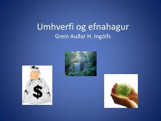 Umhverfi og efnahagur Grein Auðar H. Ingólfs