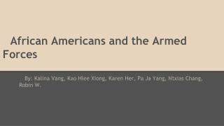 African Americans and the Armed Forces