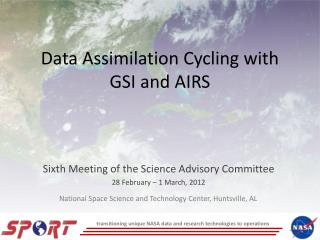 Data Assimilation Cycling with GSI and AIRS