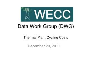 Data Work Group (DWG) Thermal Plant Cycling Costs