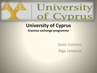 University of Cyprus Erasmus  exchange programme