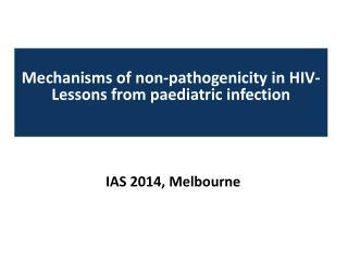 IAS 2014, Melbourne