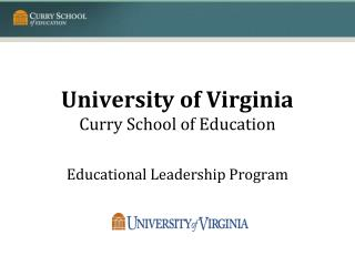 University of Virginia Curry School of Education