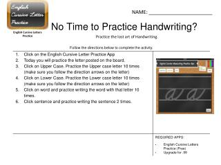 No Time to Practice Handwriting?