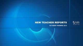 new teacher reports