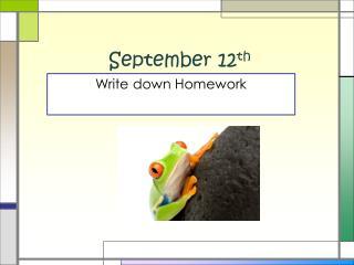 September 12 th