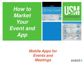 Mobile  Apps  for  Events  and  Meetings