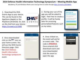 2014 Defense Health Information Technology Symposium  – Meeting Mobile App