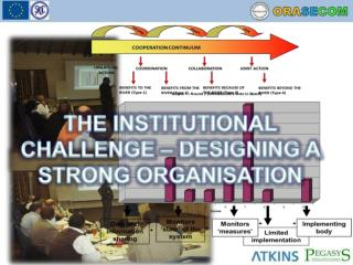THE INSTITUTIONAL  CHALLENGE – DESIGNING A STRONG ORGANISATION