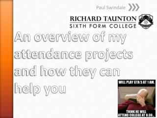 An overview of my attendance projects and how they can help you