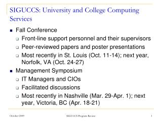 SIGUCCS: University and College Computing Services