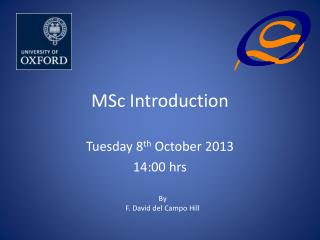 MSc Introduction