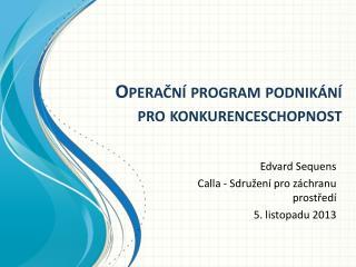 Operační program podnikání pro konkurenceschopnost