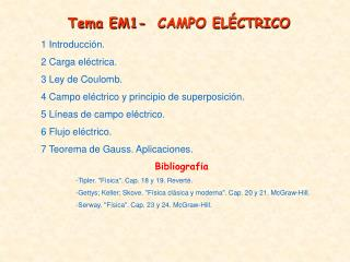 1 Introducción . 2 Carga eléctrica. 3 Ley de Coulomb.