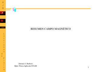RESUMEN CAMPO MAGNÉTICO