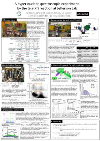 Λ hyper nuclear spectroscopic experiment  by the ( e,e'K + ) reaction at Jefferson Lab