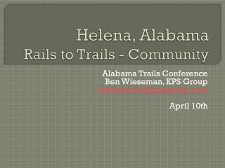 Helena, Alabama Rails to Trails - Community