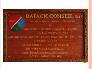 BATACK CONSEIL Sarl