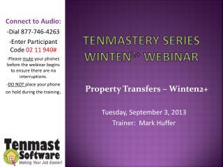 TenMastery  Series Winten 2+  webinar