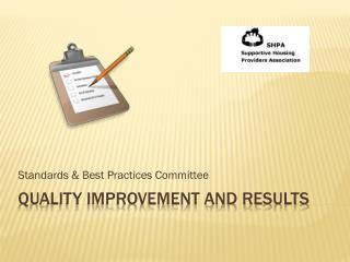 Quality improvement and results