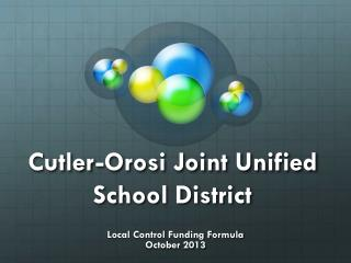 Cutler-Orosi Joint Unified School District