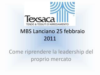 MBS Lanciano 25 febbraio 2011