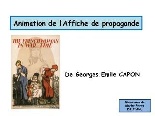 Animation de l'Affiche de propagande